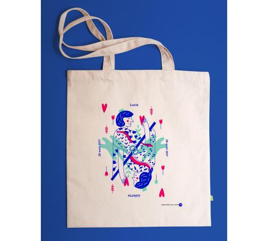 Tote bag personnalisable - ELLE + ELLE - Pique ton coeur