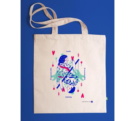 Tote bag personnalisable - ELLE + LUI - Pique ton coeur