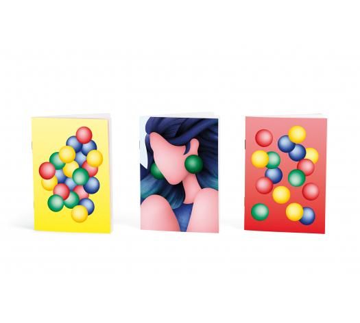 Trio de petits carnets - Papier merveille x Anna Uru